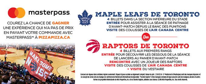 Concours Priceless avec Masterpass! Prix VIP avec les Maple Leafs ou les Raptors image contest banner