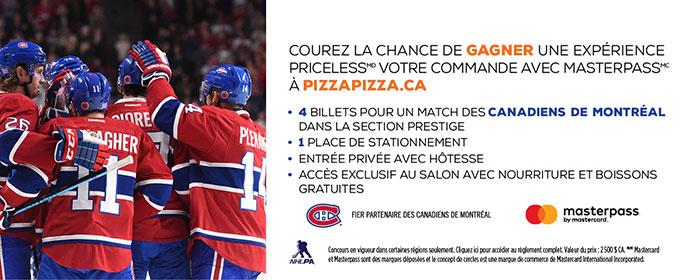 Concours Priceless avec Masterpass! Prix VIP avec les Canadiens de Montréal image contest banner