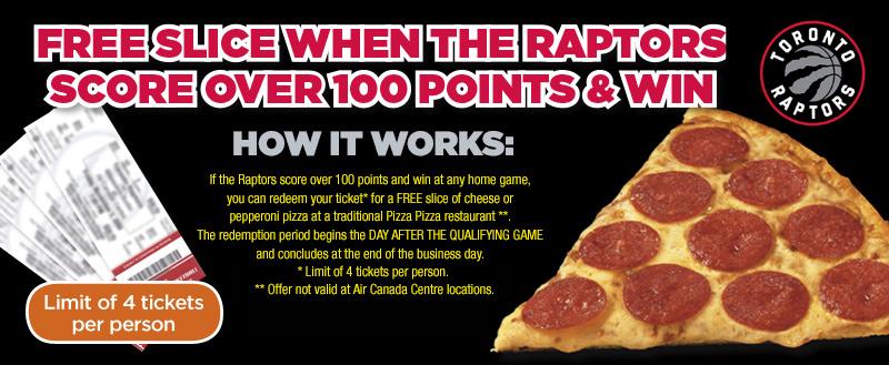 Toronto Raptors Score & Win Promo image contest banner