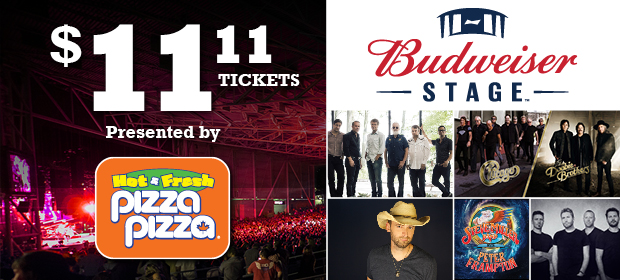 Club 11-11 Exclusive: $11.11 Tickets for Budweiser Stage image contest banner