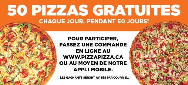 Concours « 50 Pizzas Pendant 50 Jours » image contest banner
