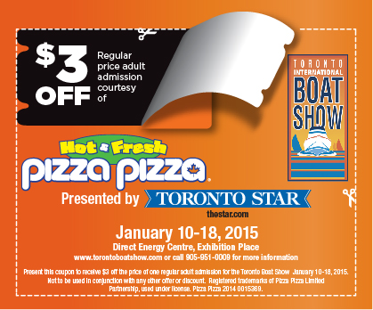 toronto boat show coupons pizza pizza