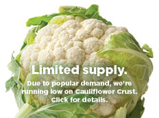Cauliflower: Limited Supply